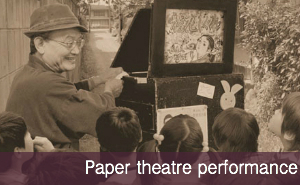 Paper theatre performance